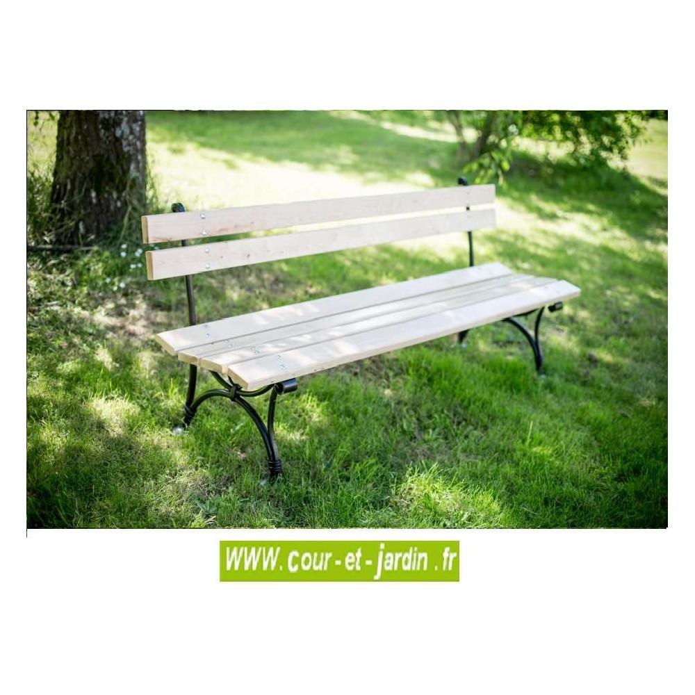 banc de jardin m tal fer bois bancs de jardin acier. Black Bedroom Furniture Sets. Home Design Ideas