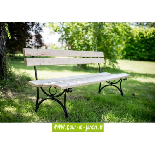 banc de jardin m tal fer bois bancs de jardin acier. Black Bedroom Furniture Sets. Home Design Ideas