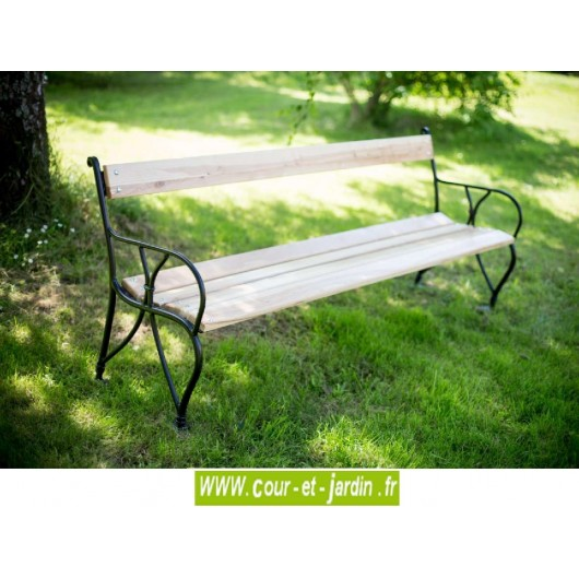 banc de jardin m tal ext rieur bancs de jardin acier bois design. Black Bedroom Furniture Sets. Home Design Ideas