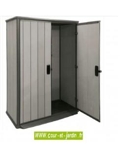 armoire de rangement haute brossium en r sine. Black Bedroom Furniture Sets. Home Design Ideas