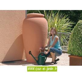 Récupérateur d'eau AMPHORE 500L coloris terracotta