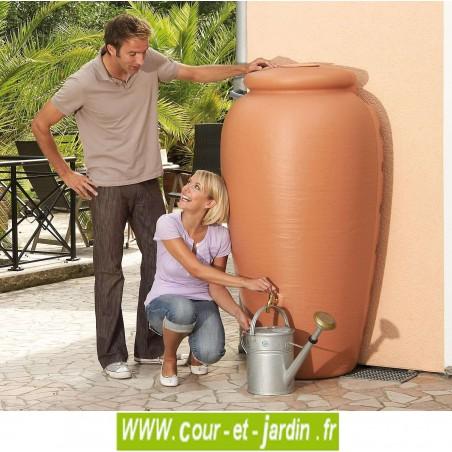 Récupérateur d'eau demi-Amphore murale, terracotta