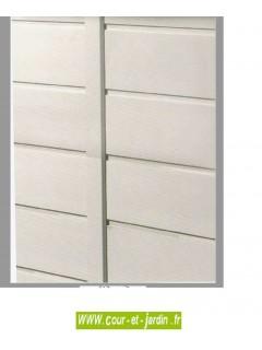 Vue d'un panneau des abris jardin PVC EVO 280 -  de la gamme : cabane jardin PVC