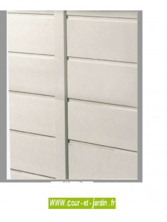 Abri jardin resine : EVO 100, 1m² mural beige - petit abri de  jardin pas cher