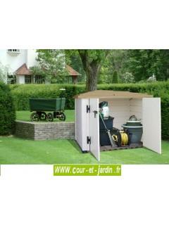 """vue intérieure du Coffre de rangement en pvc """"BOX 100""""   -  coffre de jardin en PVC"""