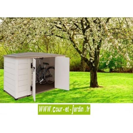 Coffre de rangement PVC BOX 200, armoire de jardin multifonction 203x83cm