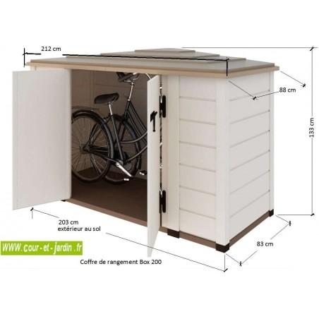 armoire de jardin pvc dite coffre de rangement box 200. Black Bedroom Furniture Sets. Home Design Ideas
