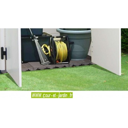 Armoire jardin Box 200 en dalles de 40 x 40 cm - coffre jardin resine
