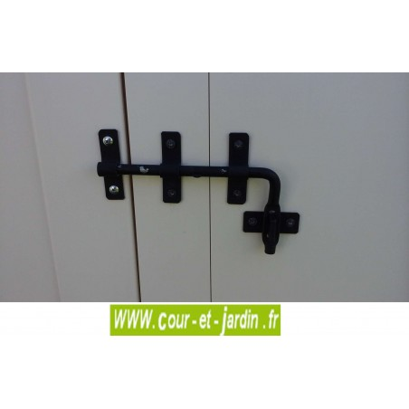 "Verrou métallique du Coffre jardin PVC ""Box 100""  -  coffre de jardin resine"