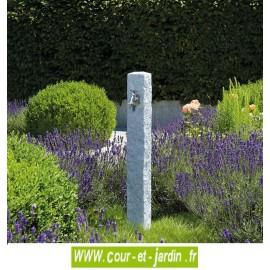 """Fontaine extérieure polyéthylène """"Granit"""" aspect pierre, coloris gris clair - fontaine pour jardin"""