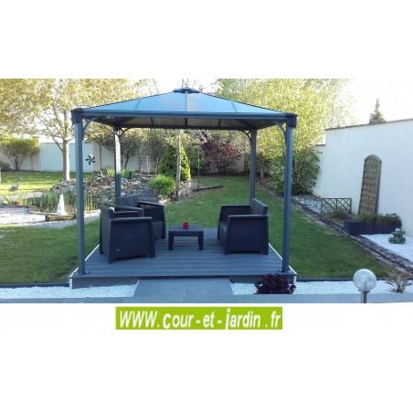 Tonnelle alu Couv'Terrasse 3x3m - tonnelle de terrasse aluminium