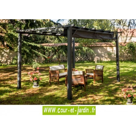 pergola terrasse alu acier pergola alu tonnelle pergola de jardin. Black Bedroom Furniture Sets. Home Design Ideas