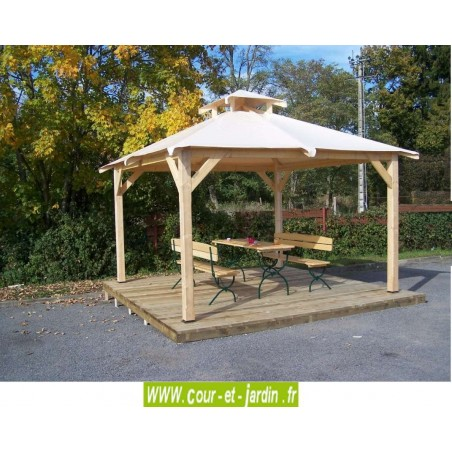 "Tonnelle jardin ""Spacio"" en bois, vendue sans banc ni table ni terrasse"
