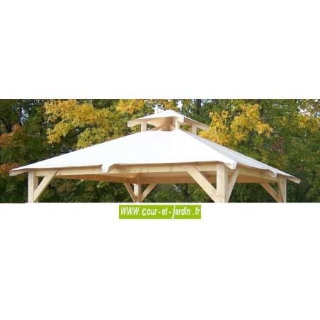 Tonnelle de jardin tonnelle bois autoportante avec bache for Auvent de jardin en toile