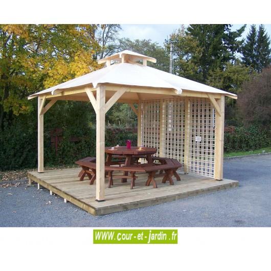 tonnelle 4x4 pergola bois 4x4 pergola 4x4 bois tonelle 4 x 4 bois. Black Bedroom Furniture Sets. Home Design Ideas