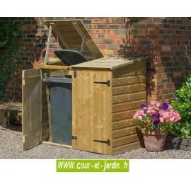 Cache poubelle double en bois Binstore