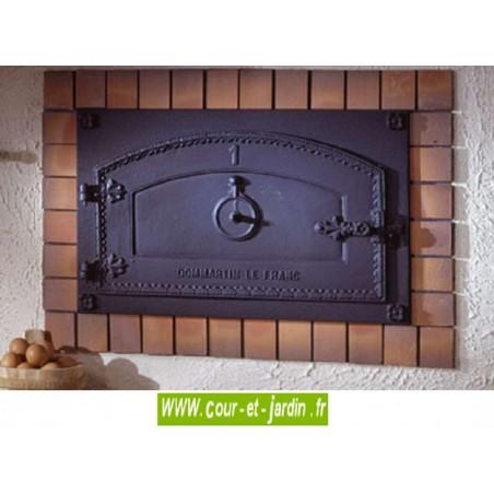 Porte de four a pain en fonte de Dommartin : Bourgogne