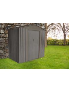 abri de jardin pas cher abri jardin metal gris imitation bois. Black Bedroom Furniture Sets. Home Design Ideas