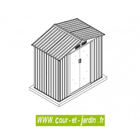 Abri de jardin pas cher abri jardin metal gris imitation bois for Abri de jardin metal pas cher