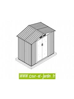 Abri métallique 6x4 sur une dalle débordante (conseillée)
