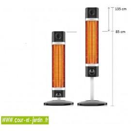 Chauffage infrarouge exterieur ou intérieur SIGMA 1700w Noir avec ou sans télécommande