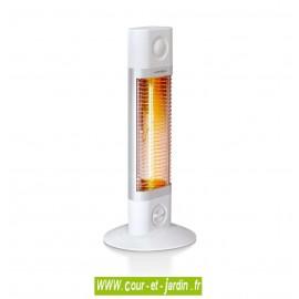 Chauffage terrasse infrarouge ou de salle de bains Veito Sigma 1200w blanc sur pied