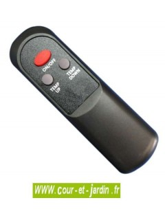 Télécommande du Chauffage UFO infrarouge Black line 2500w, noir