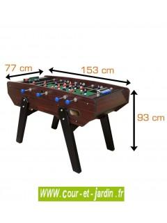Dimensions du Baby foot CAMEO V2  ATIKA de Cortes Games