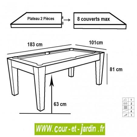 table de billard transformable plateau americain garette. Black Bedroom Furniture Sets. Home Design Ideas