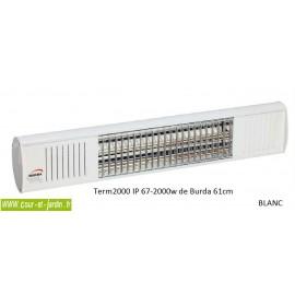 chauffage de terrasse électrique infrarouge Term 2000 Burda 61cm, 3 coloris