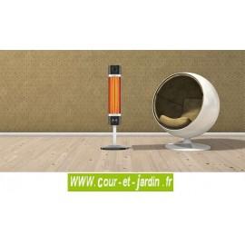 Chauffage infrarouge SIGMA 1700w Noir avec ou sans télécommande