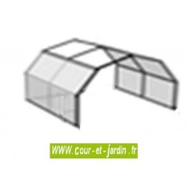 Extension de serre Flora de 3m en acier galvanisé et toit polycarbonate