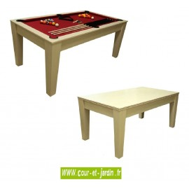 Table billard transformable Cortina T100R rouge