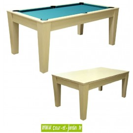 Table de billard convertible : Cortina T100G - billard plateau -