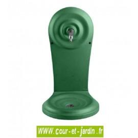 Fontaine murale en fonte QUINO petit modèle. Coloris vert 2500 - Fontaine d'extérieur