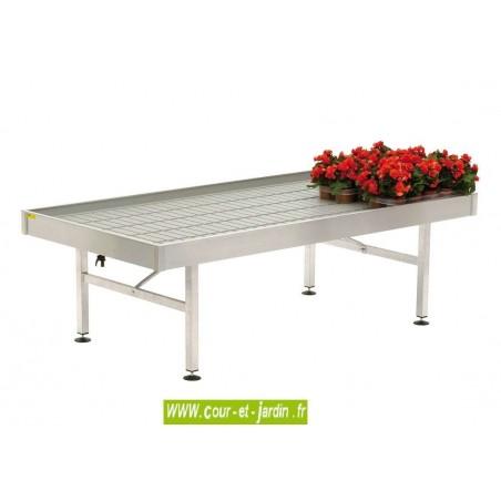 Table de jardinage aluminium, et résine, 100 x 204 (cm)