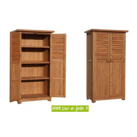 armoire balcon terrasse jardin haute en bois meuble pour balcon. Black Bedroom Furniture Sets. Home Design Ideas