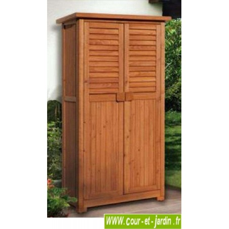 armoire balcon terrasse jardin haute meuble balcon rangement bois. Black Bedroom Furniture Sets. Home Design Ideas