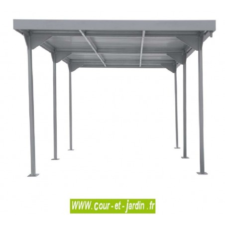 Carport en métal, de la gamme carport toit plat de Duramax