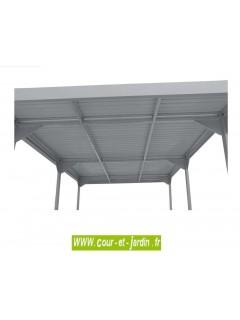 Abri voiture metal de Duramax en acier galvanisé vu sous la toiture / carport en kit