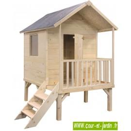 Maisonnette enfants: KANGOUROU + pilotis, cabane de jardin sur pilotis