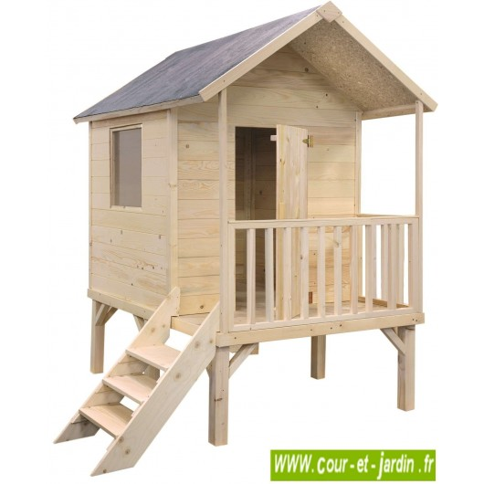 maisonnette en bois sur pilotis cabane de jardin enfants. Black Bedroom Furniture Sets. Home Design Ideas