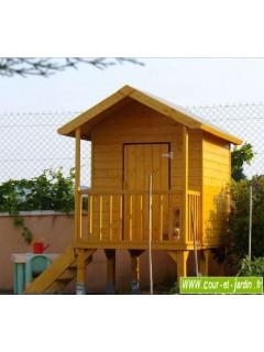 Cabane de jardin pour enfants KANGOUROU + pilotis, cabane enfants en bois