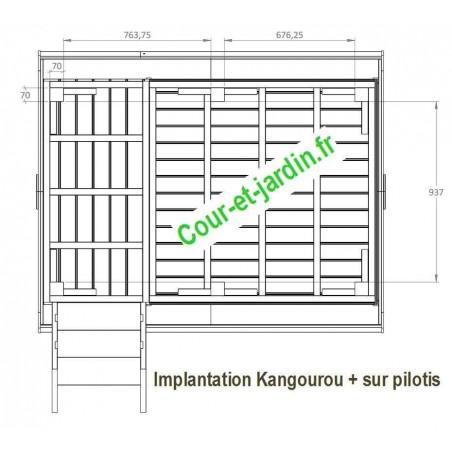 maisonnette enfants cabane de jardin enfant en bois sur pilotis. Black Bedroom Furniture Sets. Home Design Ideas