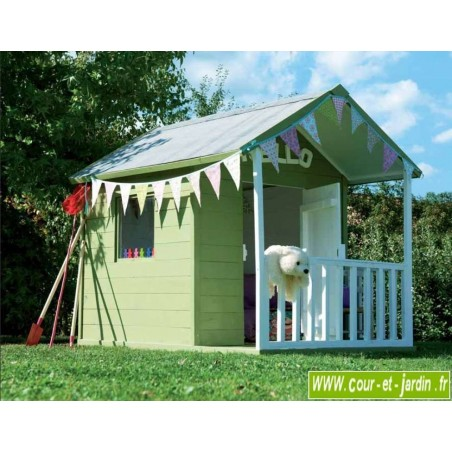 Maisonnette en bois pour enfant Kangourou - cabane de jardin pour enfant