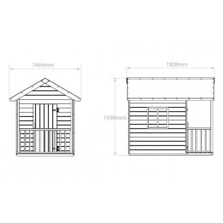 Maison enfant en bois Kangourou  -  maisonnette pour enfants - cabane enfants en bois