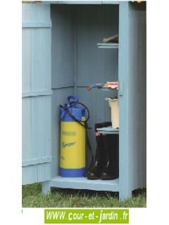 Armoire de jardin bois, bleue - armoire pour extérieur