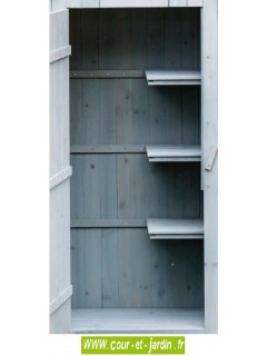 Armoire jardin bois, bleue - petite armoire de jardin