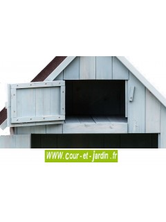 Partie haute de cette armoire rangement exterieur - armoire bois jardin