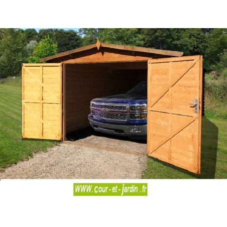 garage en bois voiture garages bois en kit abris. Black Bedroom Furniture Sets. Home Design Ideas